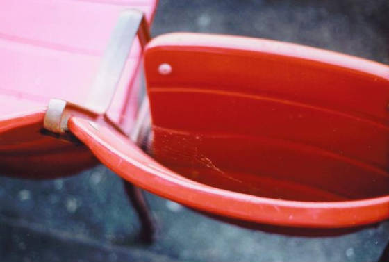 An unused seat .. Cleveland Stadium