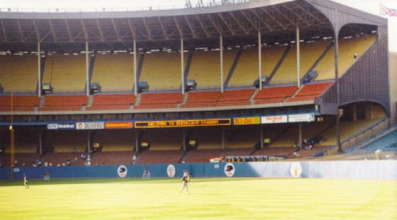 Behind left Field - Cleveland Stadium