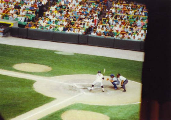 Carlton Fisk at the plate - Comisky Park