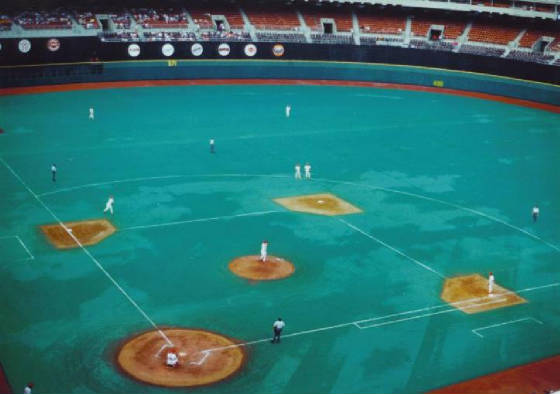 A view of the field - Veterans Stadium