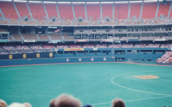 Looking at Right field - Three Rivers Stadium