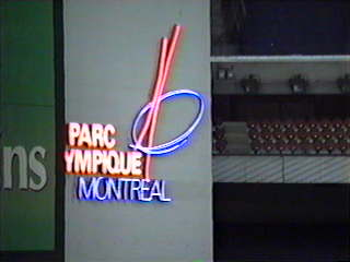 The sign inside the Park - Le Parc Olympique