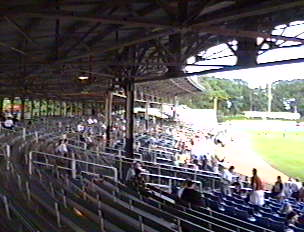 The stands at Yale Field, New Haven